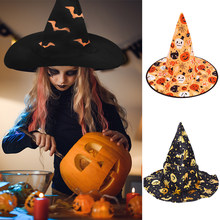 1p;c Halloween Hexe Hut Cosplay Kostüm Home Party Decor Halloween Maskerade Cosplay Phantasie Kleid Decor Frauen Dame Top Hut Caps(China)