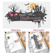 Halloween Creative Gift Pumpkin Pattern Water Display Shower Mat Carpet Horror 70×40cm Kitchen bathroom doormat