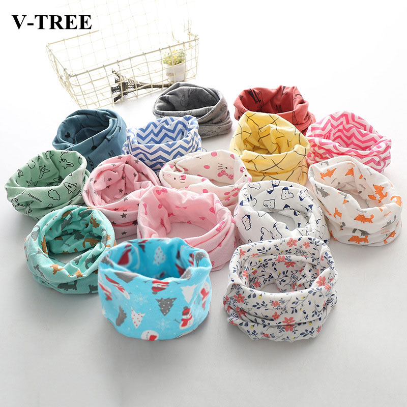 Colored Children Scarf Cotton Scarf For Kids Cotton Winter Baby Ring Scarf Kids Scarf Boys Girls O Ring Scarf Toddler Muffler