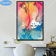 Kanye West Poster Kid Cudi Kids See Ghosts Hot Music Album Hip Hop Canvas Painting Posters and Prints Wall Art Room Home Decor(China)