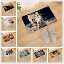 Cute Cat Enter Door Mat Kitchen Carpet Front Doormat Rug Home Indoor Room Non-slip Bath Mats Welcome Floor