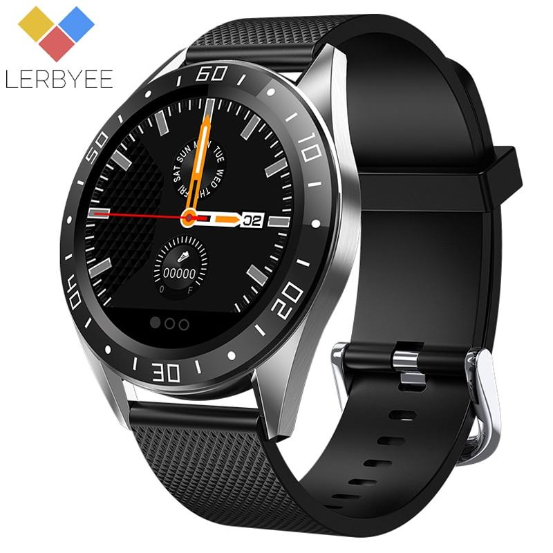 Lerbyee GT105 Bluetooth montre intelligente étanche fréquence cardiaque pression artérielle chronomètre réveil Fitness montre pour iOS Android