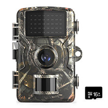12MP 1080P yaban hayatı avcılık Trail oyunu kamera w/16GB/32GB TF kart hareket aktif güvenlik kamera IP66 avcılık İzcilik kamera