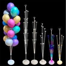 Decoração do casamento tubos balão suporte coluna confetes balões feliz aniversário ballon crianças chuveiro do bebê decorações de festa