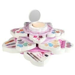 21 stks/set Meisje Pretend Play Speelgoed Kinderen Water-Oplosbare Cosmetica Set Nagellak Make Speelgoed Geen Giftige Make Up box 22748T