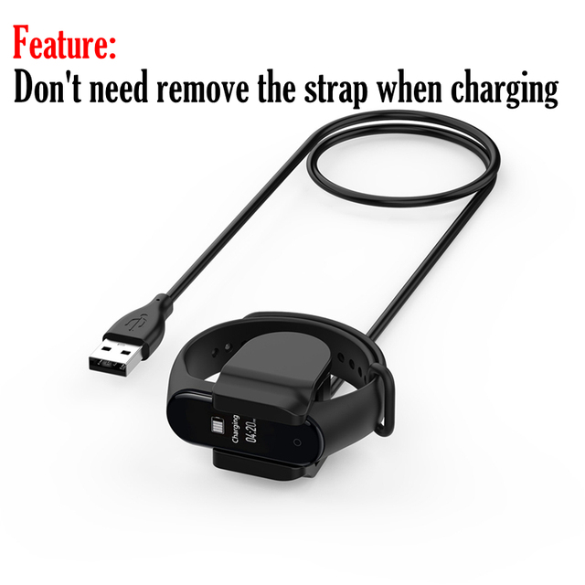 Charger Cable For Xiaomi Mi Band 3 4 Miband 3 Smart Wristband Bracelet Mi band 2 Charging cable Band4 USB Charger Adapter Wire 1