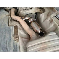 Decorate Exhaust Muffler Pipe Polished 1pc Downpipe Sound 63mm Replacement Stainless Steel