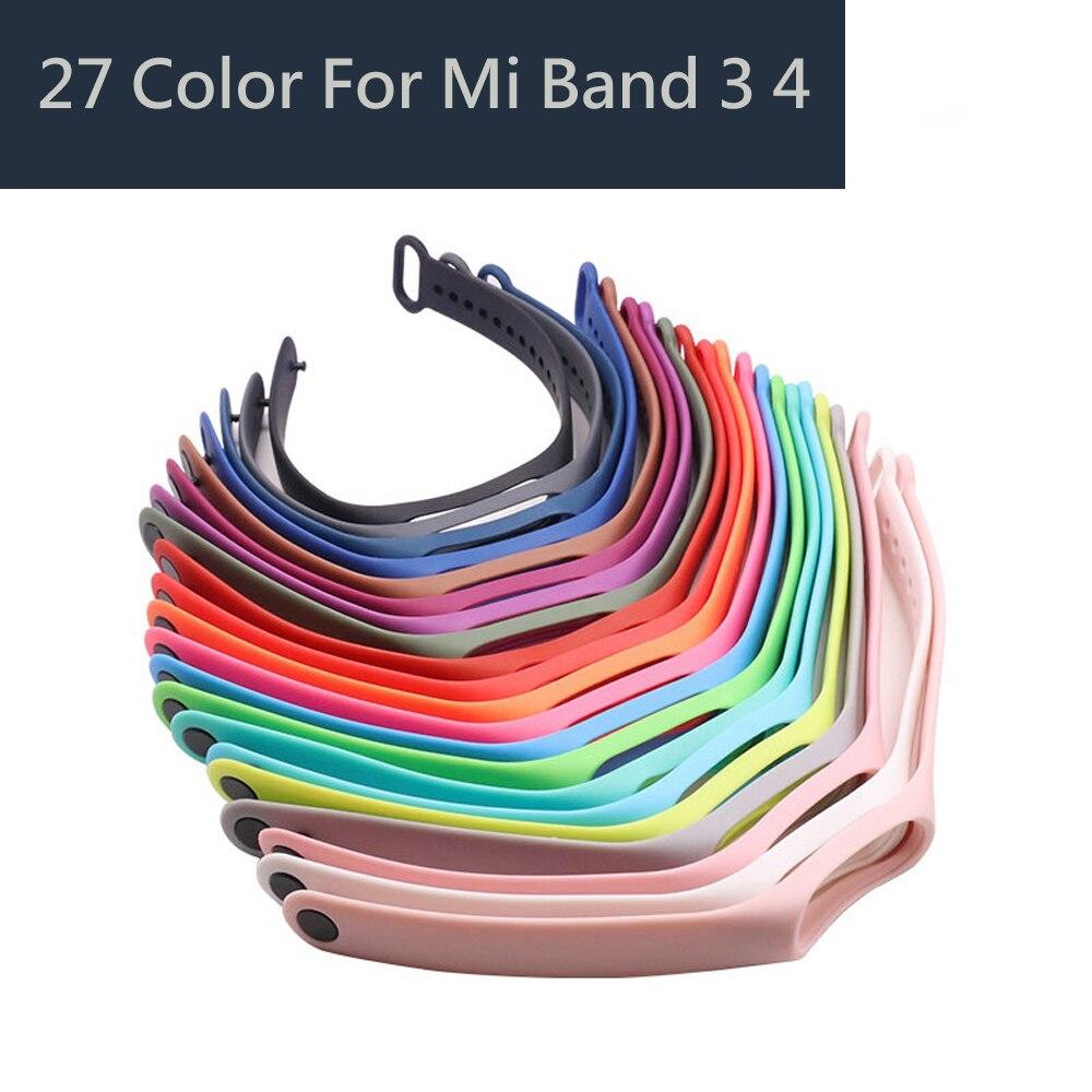 27 цветов Силиконовый ремешок для Xio mi band 3 4 браслет для Mi band 4 силиконовый спортивный ремешок на запястье браслет для Xio Mi band 3 4| |   | АлиЭкспресс - Часы и фитнес-браслеты на Али: бестселлеры