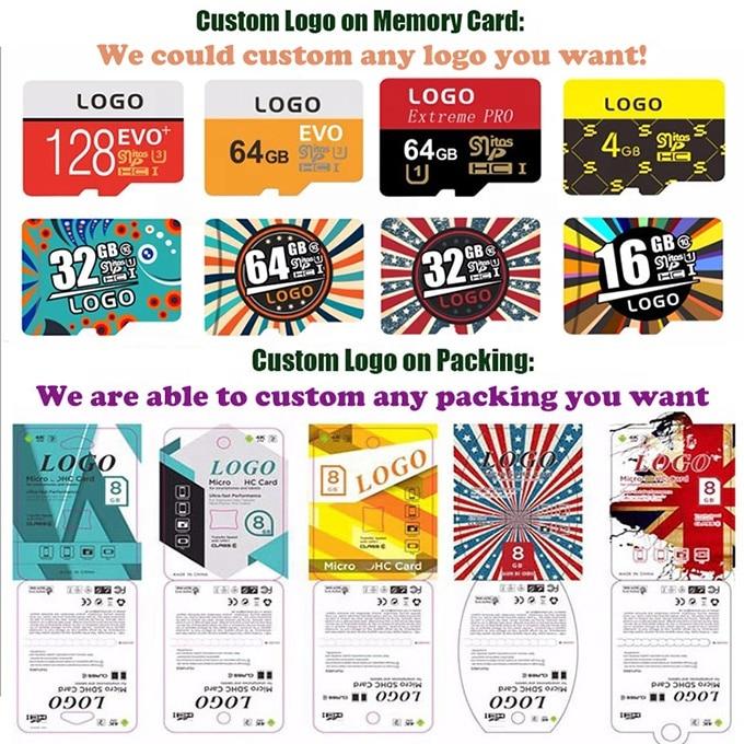Custom Logo Wholesale Real Capacity Memory Card 50PCS 32GB 16GB 8GB 64GB 128GB 256GB Micro SD Card Class10 U1 U3 SD Original Mem 6