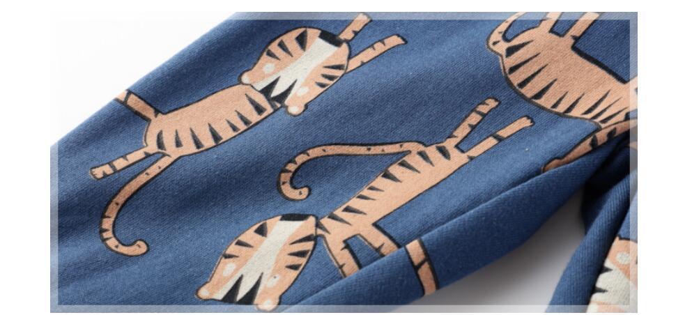 Little maven baby boy trousers children's knitted cotton stretch toddler boy animal dinosaur print pants 11031 6