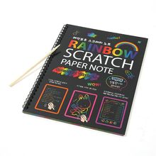 19--26cm Painting-Paper Learning Scratch Educational with Drawing-Stick Black Coated