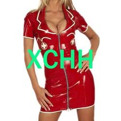 Sexy látex borracha cosplay enfermeira vestido sexy kakegurui cosplay traje bodysuit