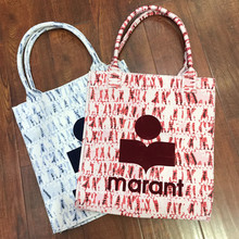 Women's Canvas Bag Large-capacity Logo Letters Printed Handbags 2021 New Fashion