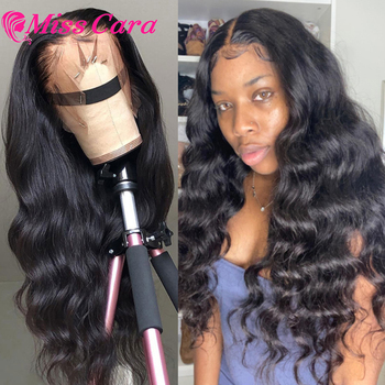 Miss Cara-peluca con malla frontal de cabello humano para mujer peluca con malla frontal de encaje frontal brasileño 13x4, peluca con parte en T transparente, peluca con malla frontal para mujer negra
