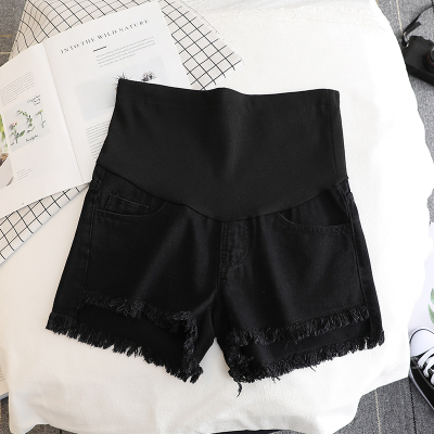 17432# Summer Thin White Denim Maternity Shorts High Waist Belly Short Jeans Clothes for Pregnant Women Pregnancy Casual Shorts 6