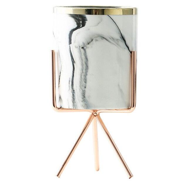 Vaso Decorativo Marmorizzato Artistico in Ceramica 22