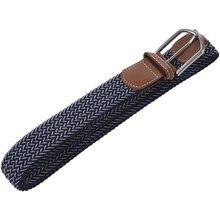 Men Casual Canvas Belt Elastic Rubber Concise Belt Metal Buc