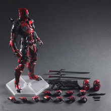 Marvel Avengers Deadpool 26cm PVC Action Figure Posture Model Anime Decoration Collection Model Doll Toy Gifts marvel black panther pvc toy figure model super hero play arts 27cm marvel avengers action figure model toy dolls kids gift