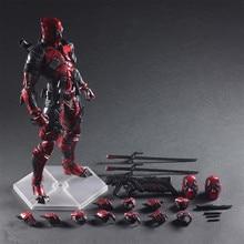 цены Marvel Avengers Deadpool 26cm PVC Action Figure Posture Model Anime Decoration Collection Model Doll Toy Gifts