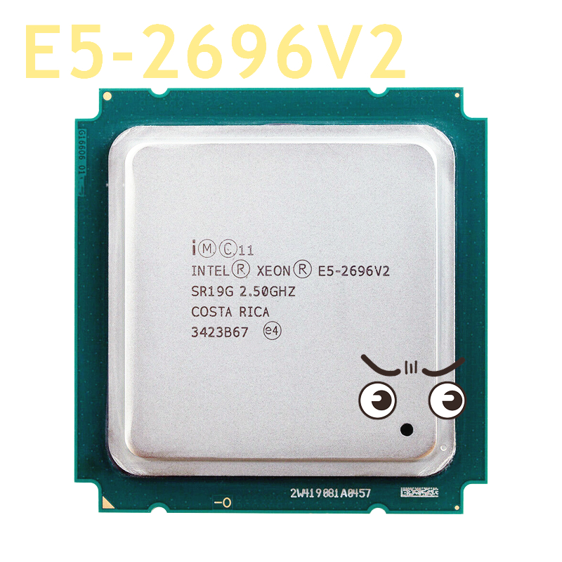 Used Intel Xeon E5-2696v2 E5 2696v2 E5 2696 V2 2.5GHz 12-Core 24-Thread CPU <font><b>Processor</b></font> 30M 115W LGA 2011 E5-2696V2 image