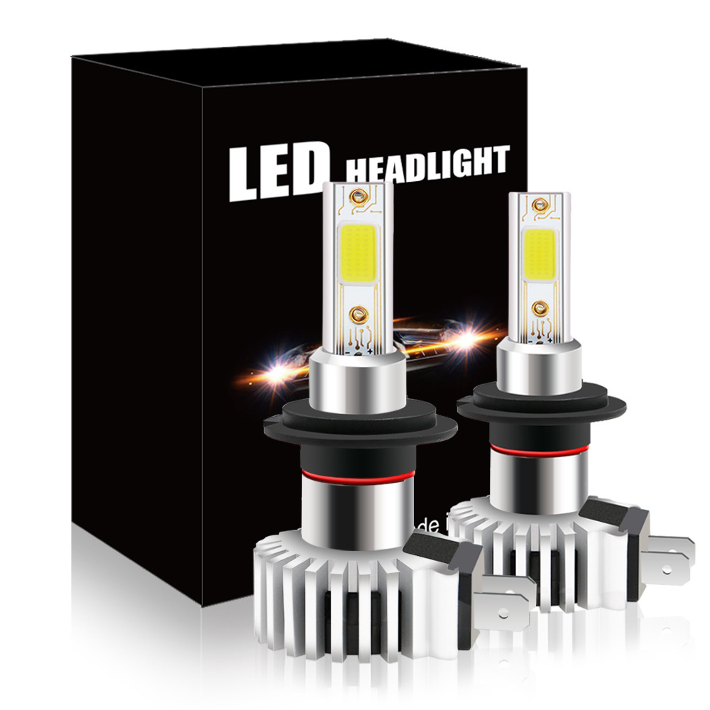 2Pcs/set NEW Car LED Headlight Bulbs D9 <font><b>H7</b></font> 30W Automobile Integrated Highlight COB Headlamp 6500K <font><b>2000LM</b></font> 12/24V High LowLamp image