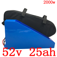 Free customs tax 52v 1000w 2000W electric scooter battery 51.8V 25AH electric bike battery 52V 25AH lithium battery+5A charger