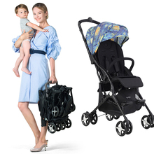 6 KG Mini Pocket Baby Stroller Lightweight Stroller Portable Baby Carriage Folding Traveling Airplane Stroller Can Sit And Lay mini light small baby stroller baby carriage cart portable foldable travel system car stroller airplane pram can sit flat lying
