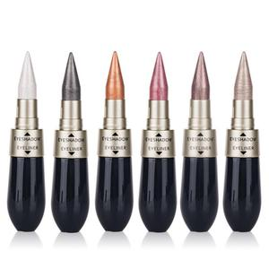 6 цветов Портативный 2 в 1 жидкие тени для век Карандаш-подводка для глаз блестящие Комбинации Shimmer жидкая подводка для глаз тени для век TSLM1