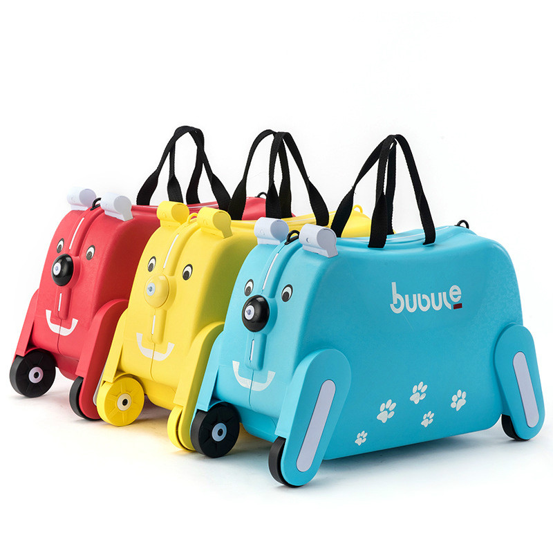 Ride-on Suitcase For Kids Luggage On Rolling Luggage Cartoon Suitcases Riding Trolley Bag For Kids Travel Baggage For Children