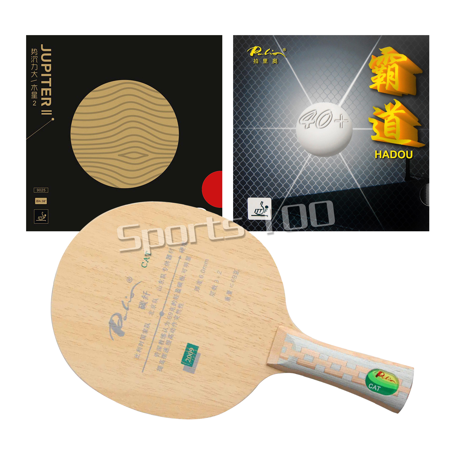 Pro Combo Racket Palio Official CAT Table Tennis Blade With  Palio HADOU 40+ And  Yinhe JUPITER II Rubbers