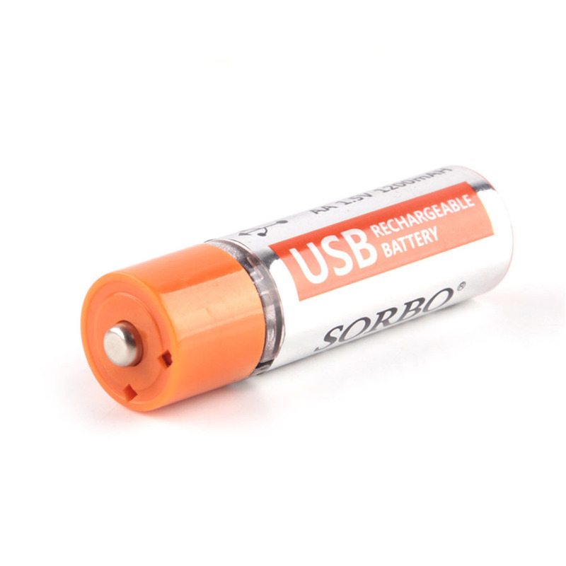 Image 2 - Original Sorbo 4pcs USB Rechargeable Battery AA 1.5V 1200mAh Quick Charging Li po Battery Quality AA Batteries Bateria RoHS CE-in Rechargeable Batteries from Consumer Electronics