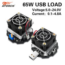 Testador de bateria eletrônico da capacidade 18650, monitor de carga 65w, indicador de descarga, usb, medidor 5v, 12v, 24v verificador de fonte de alimentação