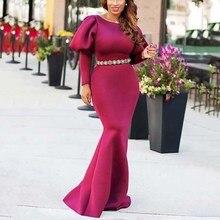 Autumn Long Floor-Length Maxi Dress Women Sexy Party Dresses Sleeve Elegant