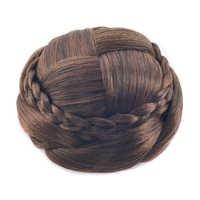 Soowee 6 Colors Braided Chignon Black Brown Clip In Hair Bun Extension Donut Hair Roller Hair Piece Black Bun Hair