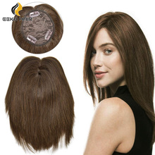 Hair-System with Bangs Clip-In Top-Crown High-Temperature-Fiber for Women Wavy