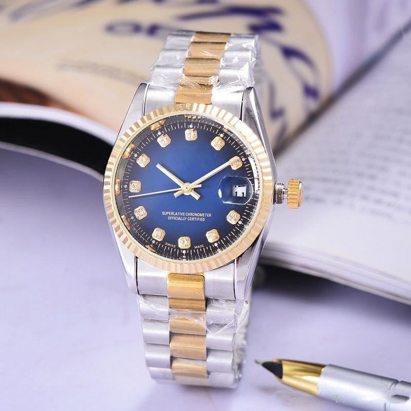 Top Brand Golden Steel Belt Business Watch for Men Watches Waterproof Date Watch relojes hombre 2019 Quartz Watches     - title=