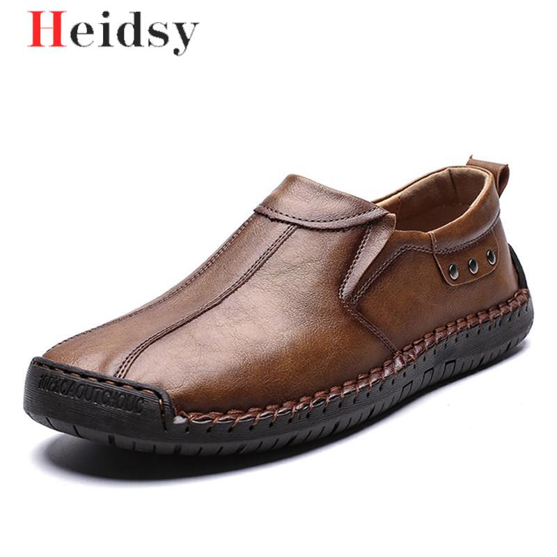 New Big Size 38-48 Men Casual Shoes Loafers Spring And Autumn Mens Moccasins Drive Shoes Genuine Leather Men's Flats Shoes