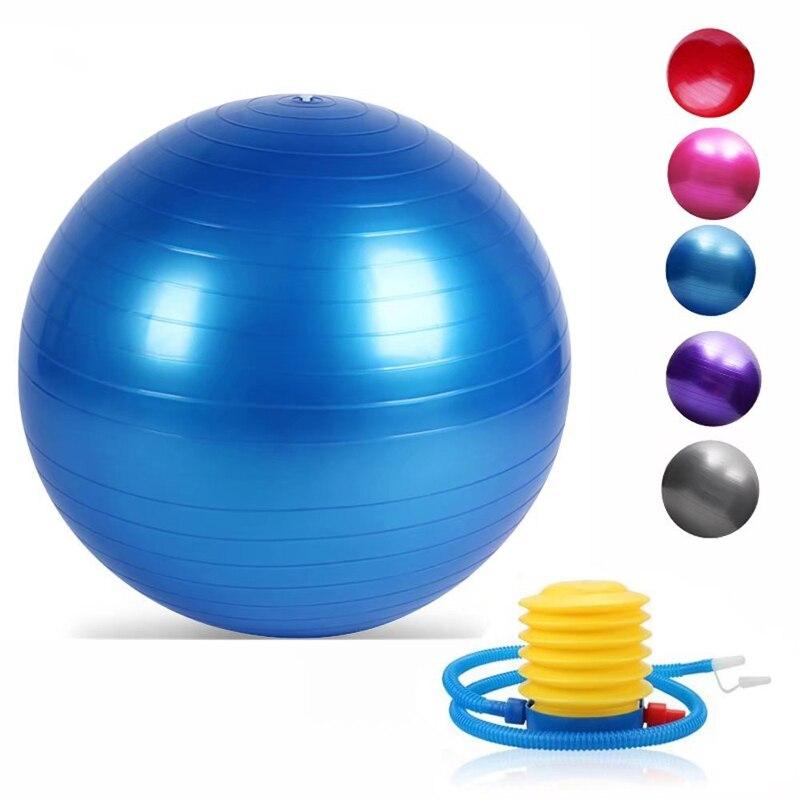 Sports Exercise Balls (55-75cm) Pilates Fitness Balance Ball AntiBurst Stability Ball For Training Workout Massage Birthing Ball
