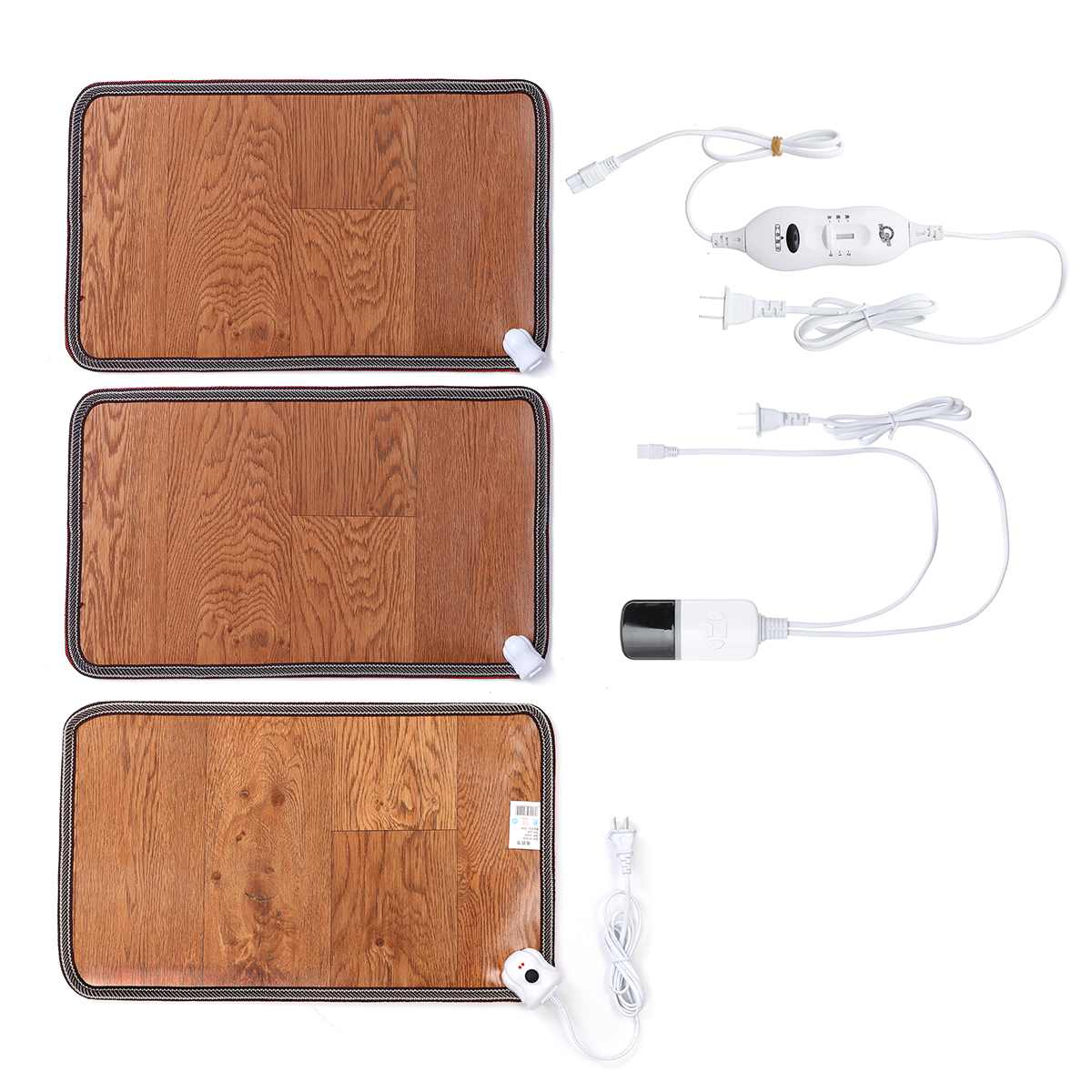 Adjustable Leather Heating Foot Mat Warmer Electric Heating Pads Feet Leg Warmer Carpet Thermostat Warming Tools Home Office