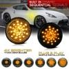 2 sztuk dynamiczny bursztynowy boczny znacznik włącz sygnał sekwencyjny migacz samochodów Leds światła dla Nissan 370Z (Z34) Coupe Roadster 2009-2020