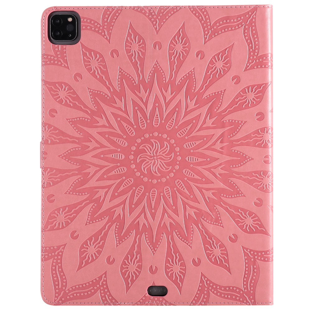 Shell Case Protective Skin Leather iPad Embossed Flower for 9 12 Pro 2020 3D Cover