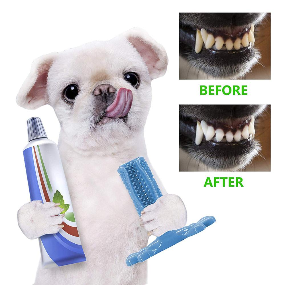Dog Toothbrush Stick Dog Chew Toy Puppy Dental Care Brushing 100/% Natural Rubber 360 Degree Deep Cleaning Effective Doggy Teeth Cleaner for Small Medium Dogs Pets