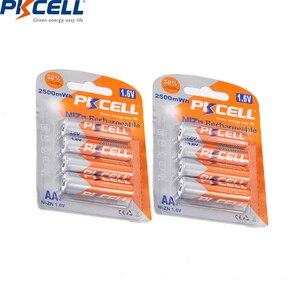 Image 2 - 8 قطعة/2 حزمة PKCELL 1.6 فولت نيزن AA بطاريات قابلة للشحن NI Zn 1.6 فولت 2500mWh AA بطاريات 1 قطعة AA/AAA شاحن بطارية نيزن