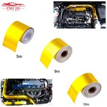 Fine gold aluminum foil tape High temperature resistant fiber cloth for exhaust pipe range hood industry