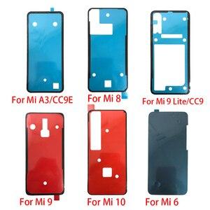 2 sztuk/partia tylna pokrywa szklana naklejki samoprzylepne naklejki klej do Xiaomi Mi 8 9 lite 10 A3 CC 9 9e Mi8 Mi9 Pro Mi6