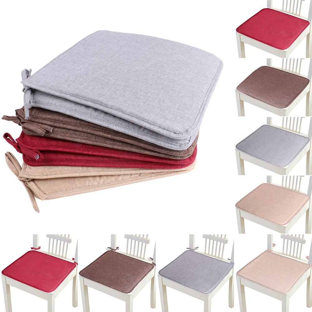 Горячая Нескользящая подушка для дивана, одноцветная квадратная подушка для сиденья, Подушка для стула, мягкая подушка для стула, 40x40 см