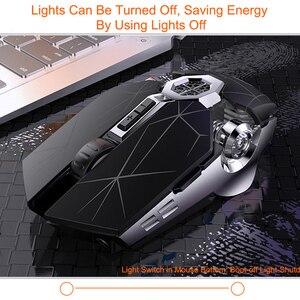 Image 2 - Souris de jeu Rechargeable sans fil souris silencieuse LED rétro éclairé 2.4G USB optique ergonomique jeu souris optique pour ordinateur portable
