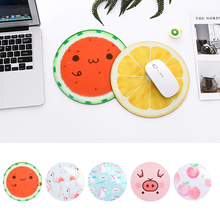 Lovely Cut Cartoon Silicone Mouse Pad Table Mat Circular Mouse Pad Creative Personality Mouse Pad Watermelon Peach Pig Pattern