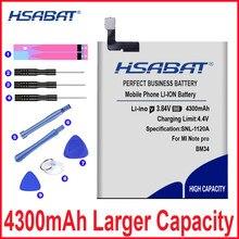 4300 mah original hsabat bm34 baterias do telefone móvel built-in li-ion para xiao mi mi nota pro bateria + ferramentas livres