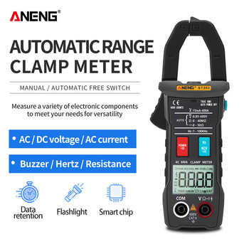 ANENG ST203 Digital Clamp Meter Multimeter 4000counts True RMS Mini Amp DC/AC Clamp Meters voltmeter 400v Automatic Range mastech ms2008a digital clamp meters auto range clamp meter ammeter voltmeter ohmmeter w lcd backlight